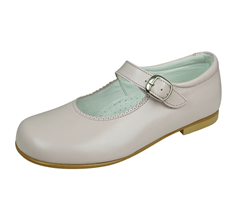 Angela Brown Hettie Toddler Girls Leather School Shoes Mary Jane Pastel Pink