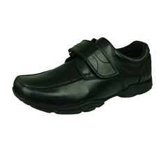 Hush Puppies Freddy 2 Jnr Boys Leather School Shoes - Black