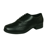 Hush Puppies Kada Kids Leather Lace Up School Shoes - Black