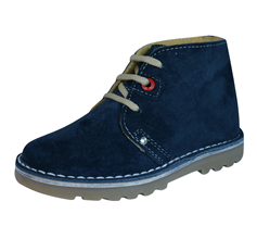 Hush Puppies Si Infant Boys Suede Leather Boots - Navy
