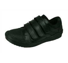 Hush Puppies Dom Jnr Boys Leather School Shoes - Black