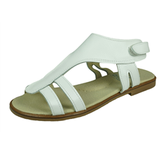 Angela Brown Izzy Toddler Girls Leather Sandals - White