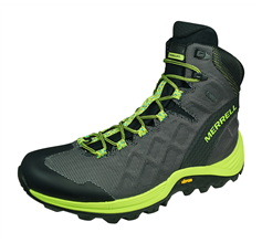 Merrell Thermo Rogue Mid GTX Mens Winter Hiking Boots - Grey and Lime