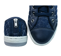 Geox J Creamy D Girls Trainers / Shoes - Navy Blue