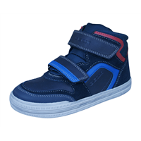 Geox J Elvis H Boys Leather Trainers / Hi Tops - Navy Blue