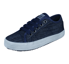 Boys Geox Trainers J Alonisso B Denim Kids Shoes - Blue