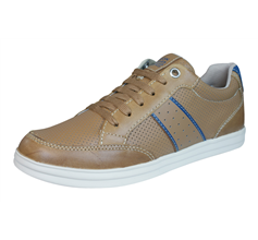 Geox J Anthor B Boys Leather Trainers / Shoes - Brown