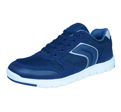 Geox J Xunday B Boys Trainers / Shoes - Navy Blue