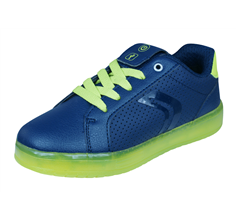 Geox J Kommodor B.B Boys Trainers / Shoes - Navy and Lime