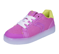 Girls Geox Trainers J Kommodor G.A Kids Casual Shoes- Pink