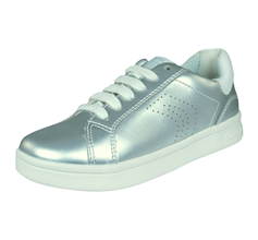 Girls Geox Trainers J DJRock G.A. Kids Casual Shoes - Silver