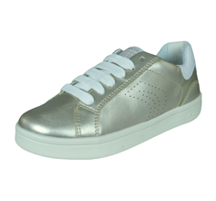 Girls Geox Trainers J DJRock G.A. Kids Casual Shoes - Gold