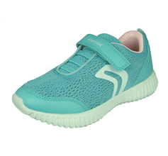 Girls Geox Trainers Waviness G.C Kids Casual Shoes- Light Blue