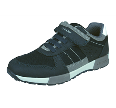 Geox Boys Trainers J Alfier B.A Casual Shoes - Navy