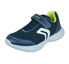 Geox Boys Trainers J Waviness B.A Casual Shoes - Navy
