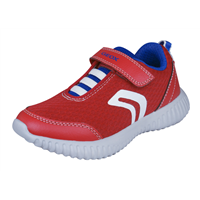 Geox Boys Trainers J Waviness B.A Casual Shoes - Red