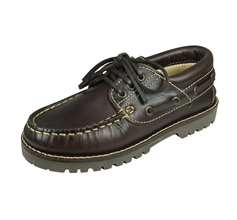Cool Boys Jack Kids Leather Boat Shoes - Brown