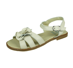 Angela Brown Kate Toddler Girls Leather Sandals - Cream