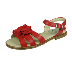 Angela Brown Kate Kids Girls Leather Sandals - Red