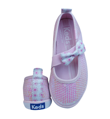 Keds Champion K MJ Girls Slip On Sequin Trainers / Shoes - Pink