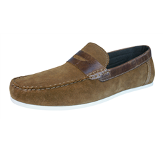 Red Tape Wardon Mens Leather Suede Slip On Moccasins / Shoes - Tan