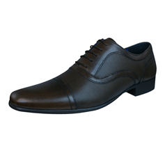 Red Tape Potton Mens Leather Lace Up Formal Shoes - Brown