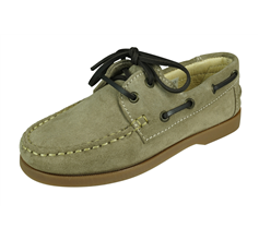 Angela Brown Max Toddler Boys Suede Boat Shoes - Beige