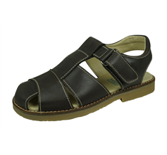 Angela Brown Ozzie Boys Leather Sandals - Brown
