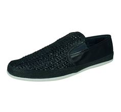 Base London Stage Mens Slip On Weave Leather Driving Loafers / Shoes - Navy