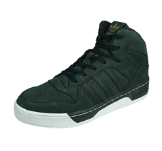 adidas Originals M Attitude Revive Womens Leather Trainers / Hi Tops - Black