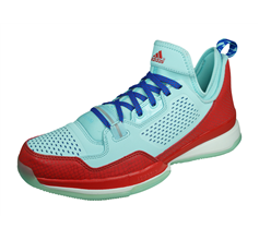 adidas D Lillard Mens Basketball Trainers - Blue and Red