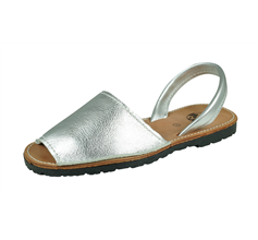Cool Girls Sofia Maria Toddler Girls Leather Slide on Sandals - Silver