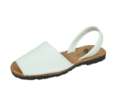 Cool Girls Sofia Maria Girls Leather Slide on Sandals - White