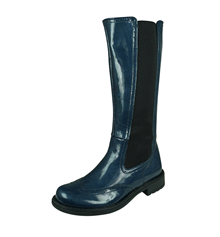 Cool Girls Twiggy Patent Leather Tall Boots - Blue