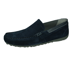 Geox U Snake Moc B Mens Suede Leather Slip On Shoes / Loafers - Navy