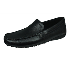 Geox U Snake Moc B Mens Leather Slip On Shoes / Loafers - Black