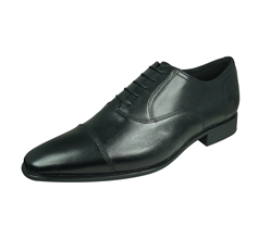 Geox U High Life C Mens Smooth Leather Shoes / Brogues - Black