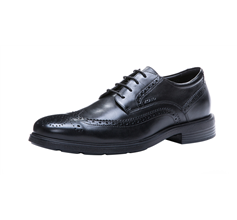 Geox U Dublin B Mens Smooth Leather Shoes / Brogues - Black