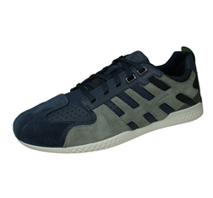 Geox U Snake 2 A Mens Suede Trainers / Sneakers - Blue and Grey