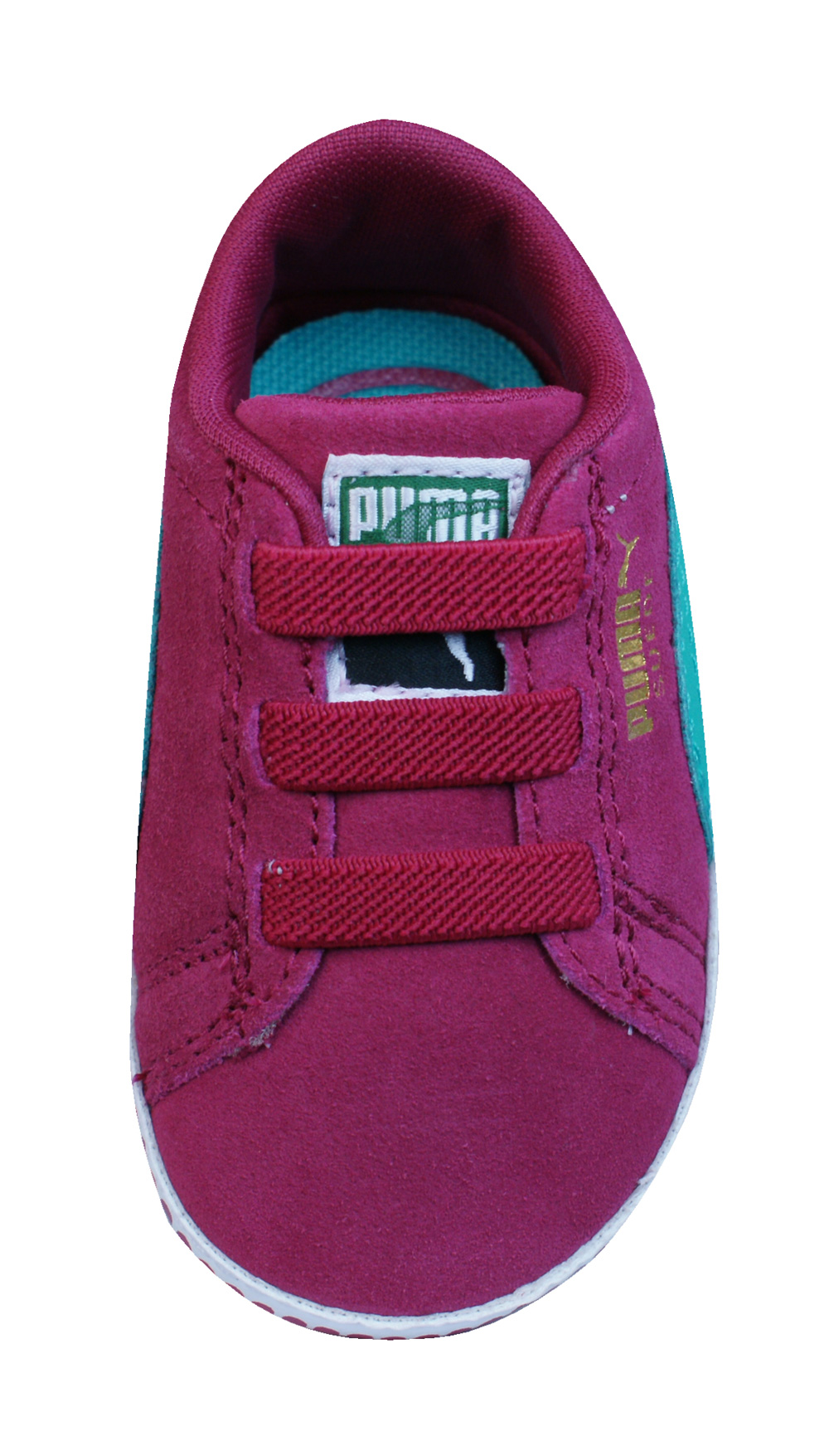 8e18bddc85ab Puma Suede Crib Infant   Baby Girls First Walker Trainers   Shoes - Cerise