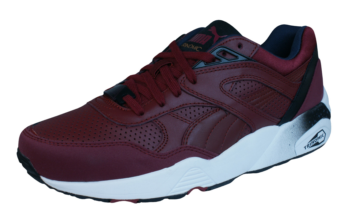 puma r698 leather trinomic mens trainers shoes burgundy at. Black Bedroom Furniture Sets. Home Design Ideas