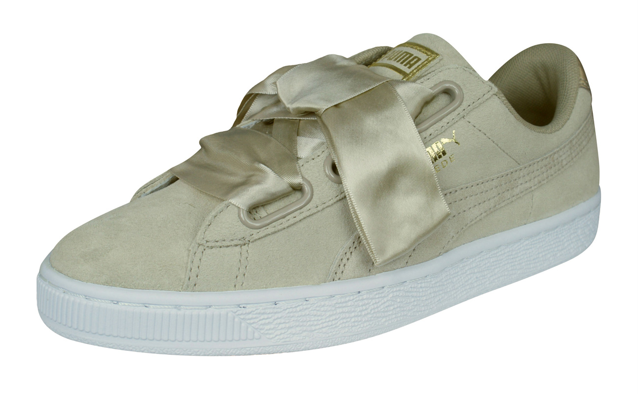 b3bc6f3f50d960 Puma Suede Heart Safari Womens Trainers   Shoes - Beige at ...