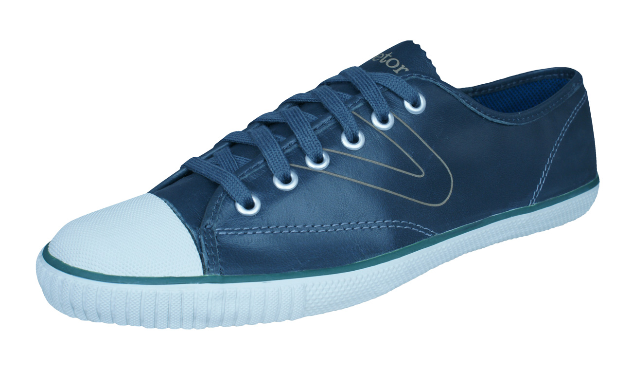 Tretorn T58 WGT Mens Leather Trainers / Shoes - Grey at ...