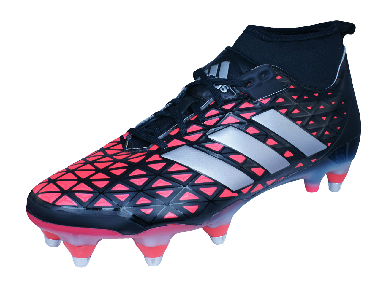 Adidas Kakari Force Sg Mens Rugby Boots Black And Red At