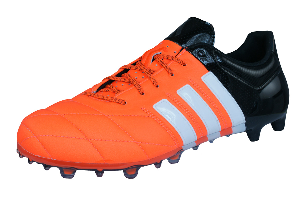 newest collection 85696 220cb adidas Ace 15.1 FG   AG Leather Mens Football Boots   Cleats - Orange Black