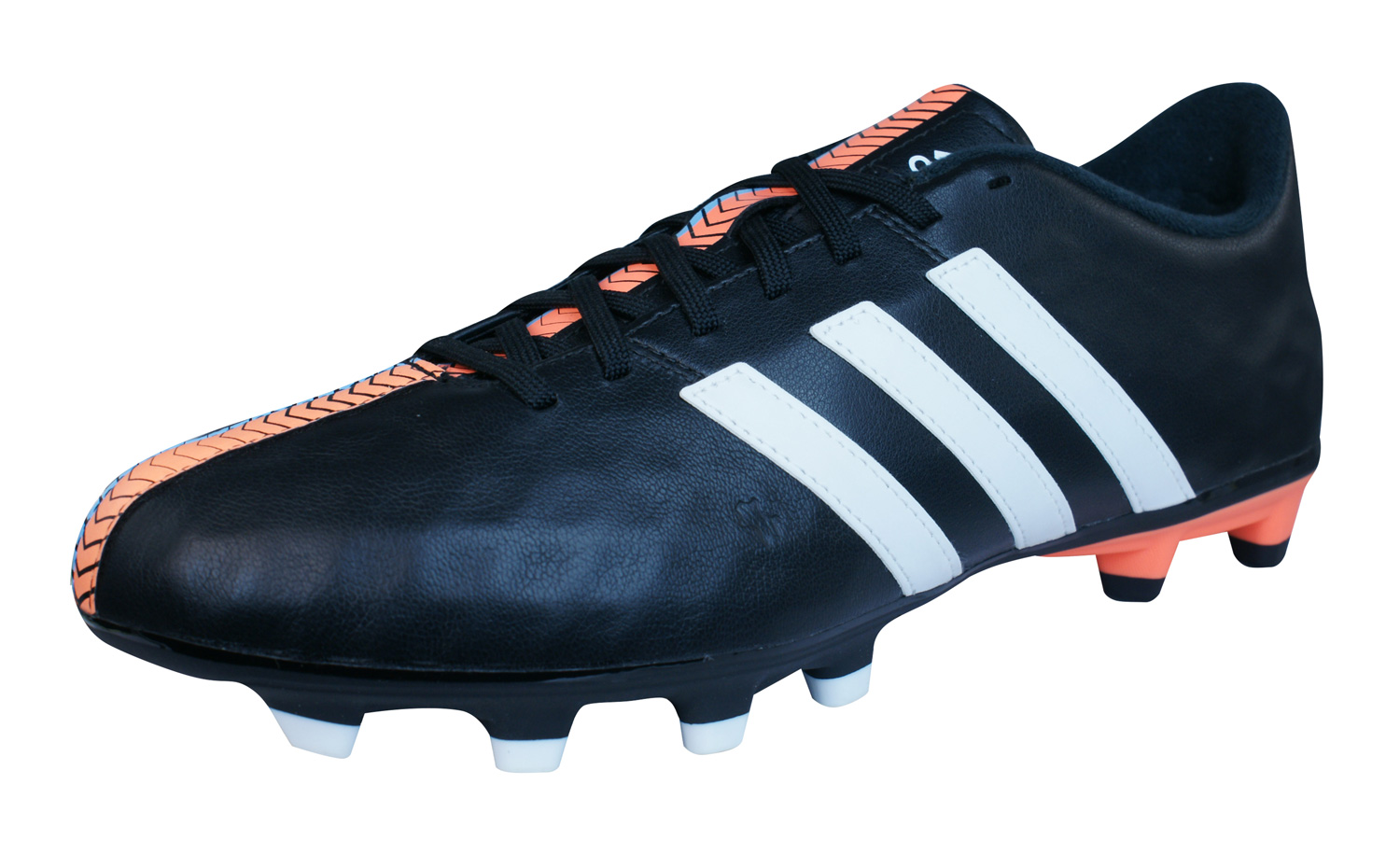 adidas 11 fg mens leather football boots cleats black