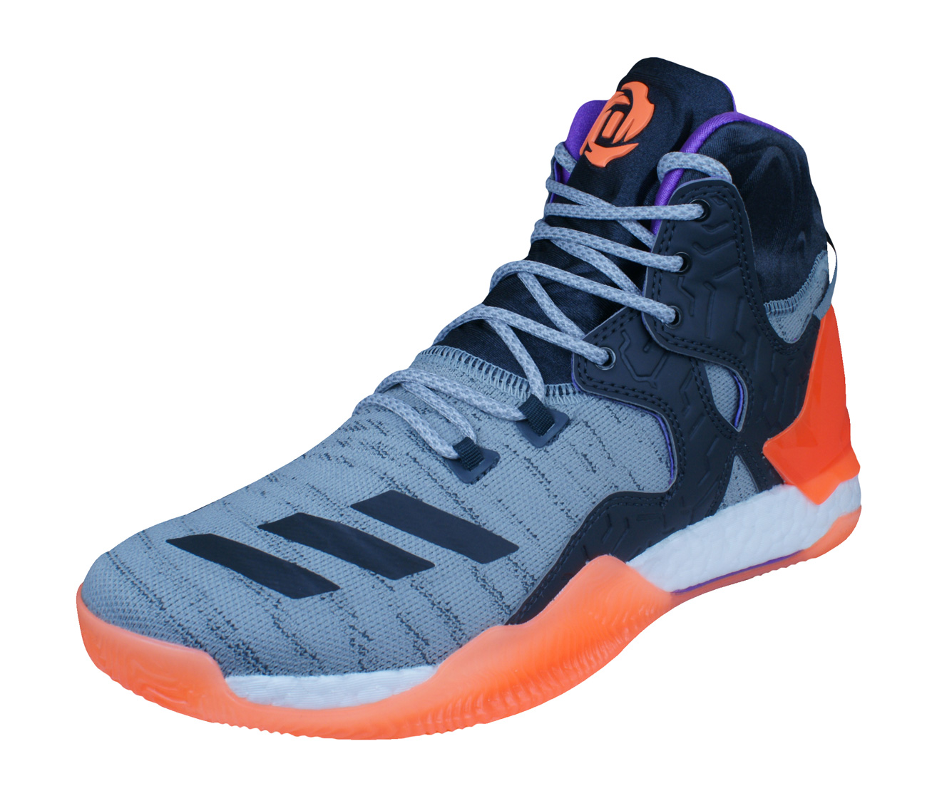 2f62855677ac adidas D Rose 7 Primeknit Mens Basketball Trainers   Shoes - Grey at ...