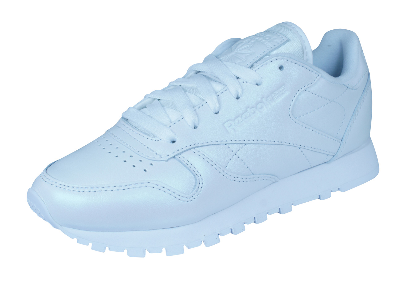 6a67df15d3cd Reebok Classic Leather Pearlized Womens Trainers   Shoes - White at ...