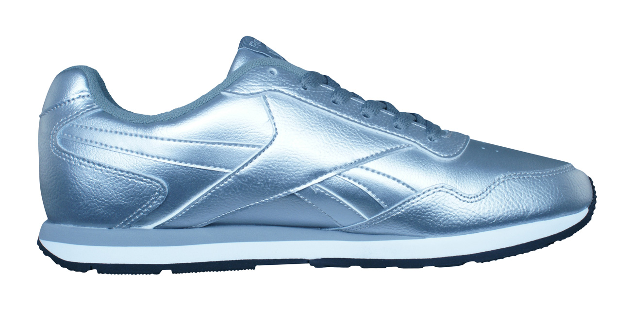 087bc94ada009d Reebok Classic Royal Glide Womens Leather Trainers   Shoes - Silver ...