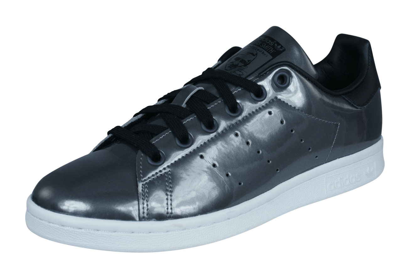 low priced 3e377 f1c8c adidas Originals Stan Smith Womens Leather Trainers   Shoes - Metallic  Silver